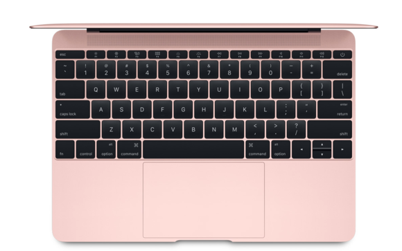 macbook 2016 rose gold