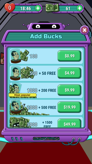 mw futurama bucks