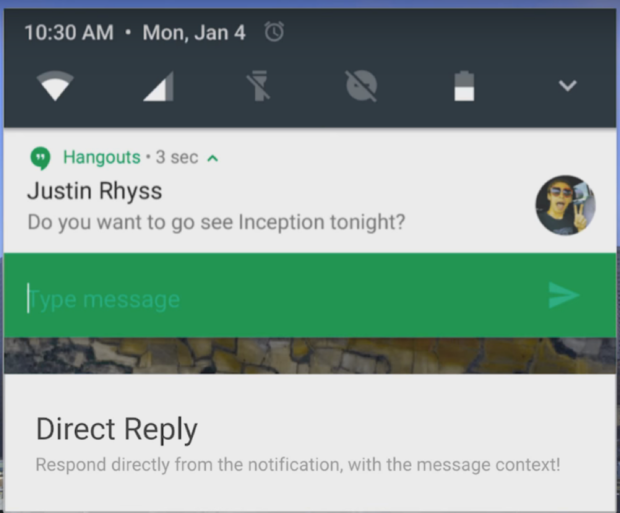 Android app notification