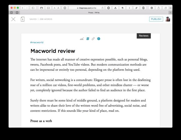 prose. web writing