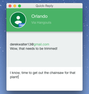 pushbullet quick reply