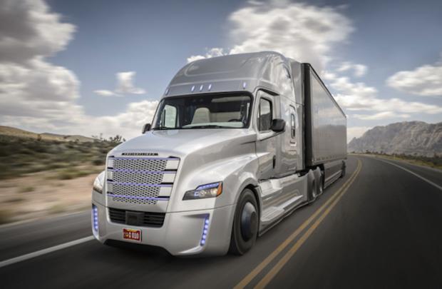 Autonomous truck self-driving semi-trailer
