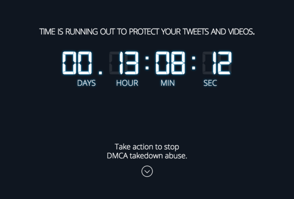 Screen shot Fight for the Future DMCA takedown abuse campaign