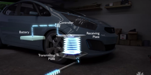Electric vehicle wireless charging