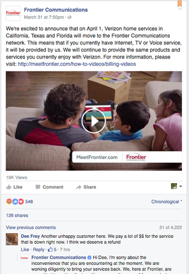 frontier facebook