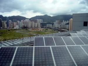 Solar panels rain