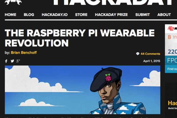 Raspberry Pi beret: An ode to Prince