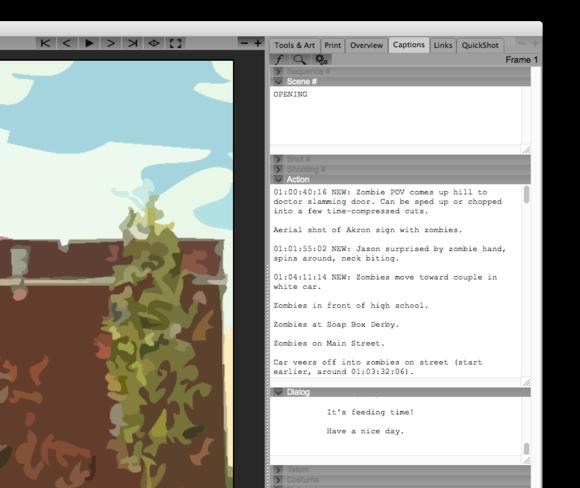 storyboard artist 7 import script