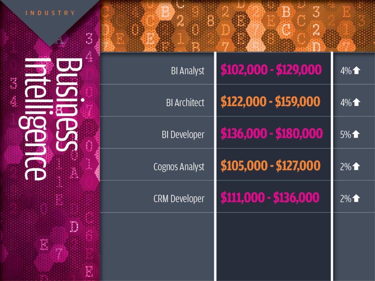 Business intelligence  tech industry salaries