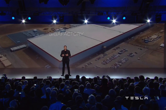 tesla model 3 press event gigafactory