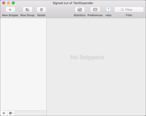 textexpander ecosystem empty snippet view
