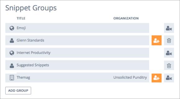 textexpander ecosystem web groups