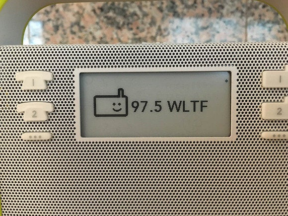 You can access Internet radio stations at the touch of a button on the Triby.