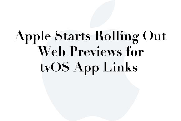 tvos web previews