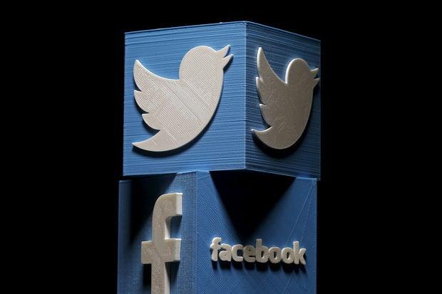 twitter facebook logo