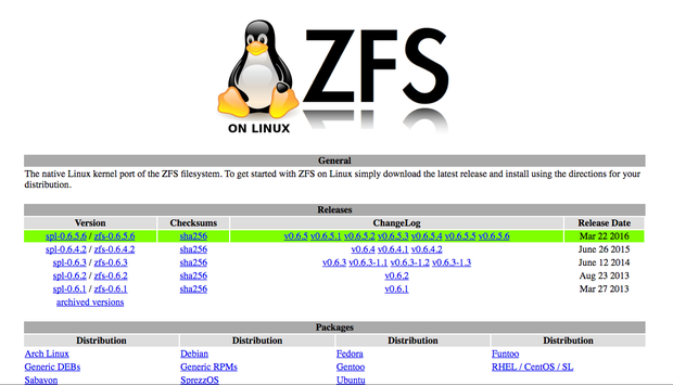 ubuntu 16.04 zfs