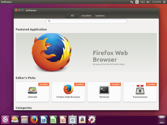 Ubuntu 16.04 LTS's new Software application and Unity desktop.