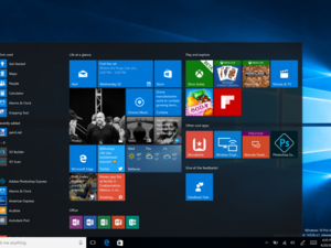 Windows 10 updated start menu