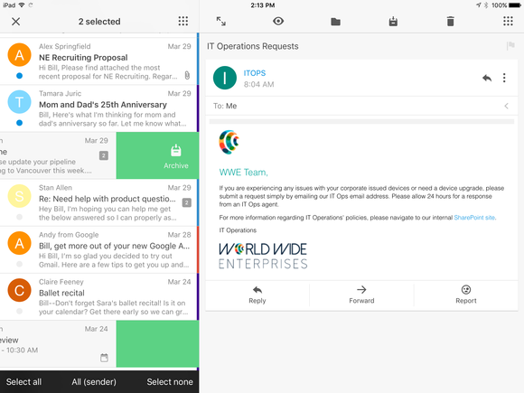 VMware goes after Outlook with Boxer email app for Airwatch | PCWorld