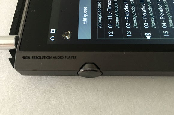 The Pioneer's volume control is understated compared to some other hi-res audio players