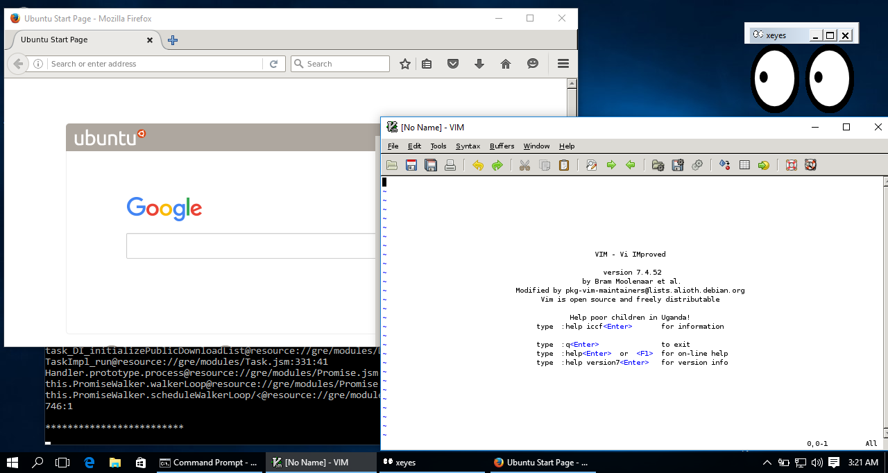 Windows 10's Bash shell can run graphical Linux applications with