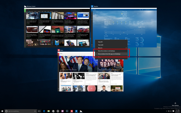 win10 anniversary update virtual desktops