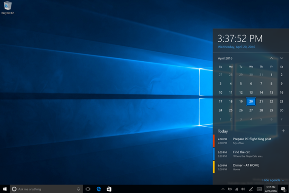 windows 10 new taskbar Build 14328