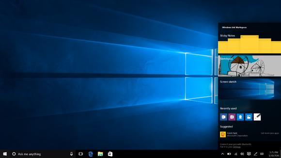 windows 10 windows ink workspace