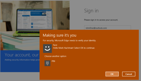 windows hello login