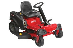 wireless enabled craftsman 22 hp v twin 42 in. zero turn steerable riding mower