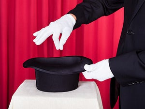 magician hat trick illusion