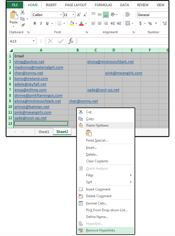02 remove all hyperlinks in a spreadsheet simultaneously