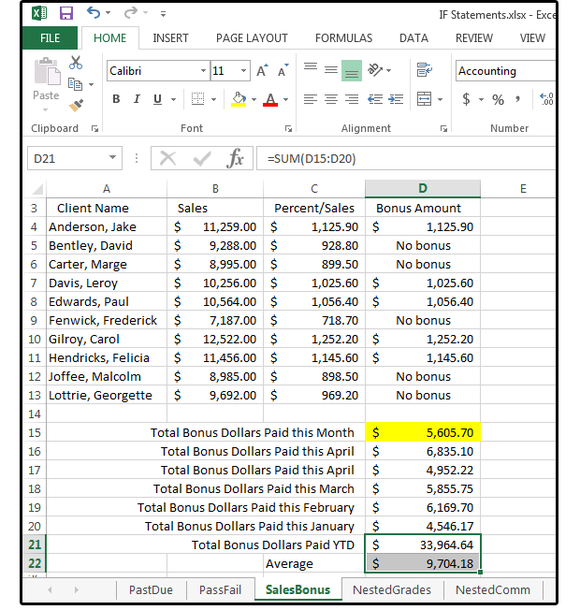 04 excel shows the relationship between multiple cells