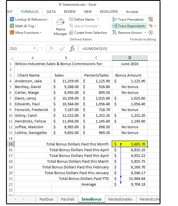 Excel formula tips: How to troubleshoot by tracing dependents and