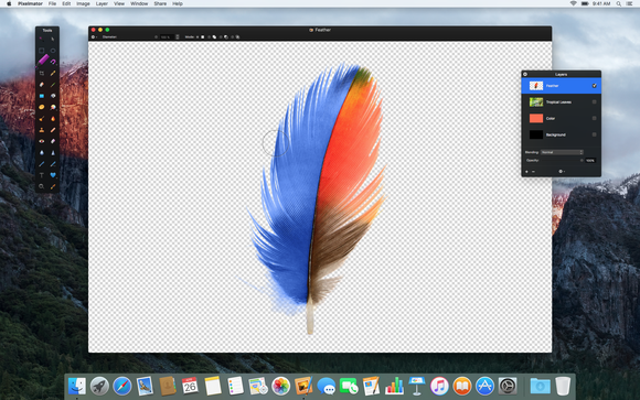 1. pixelmator quick selection tool
