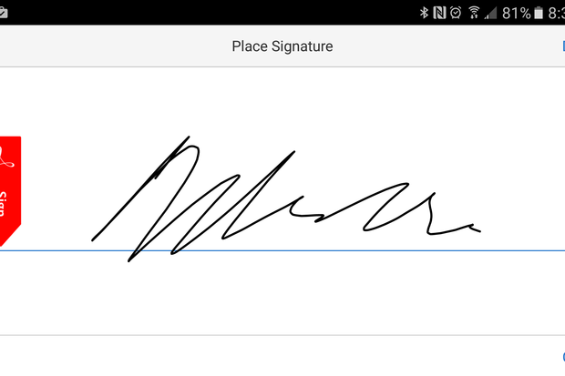 how to add signiture in adobe doc