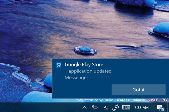 android notifications windows