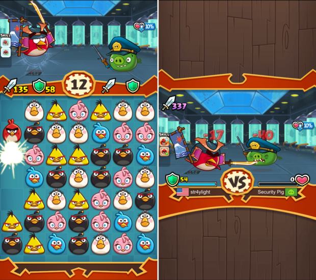 angry birds ranked fight