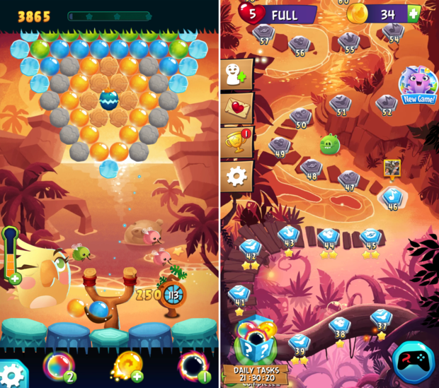 angry birds ranked pop