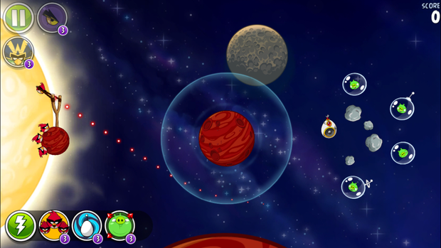 angry birds ranked space