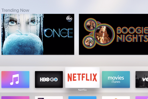apple tv apps top row