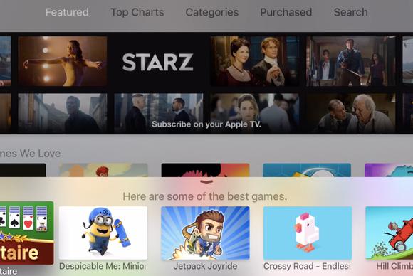 apple tv siri app store