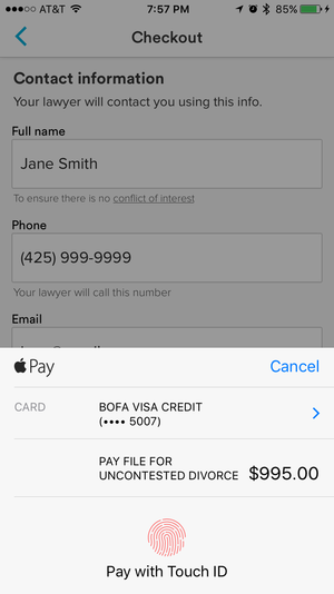 avvo apple pay checkout