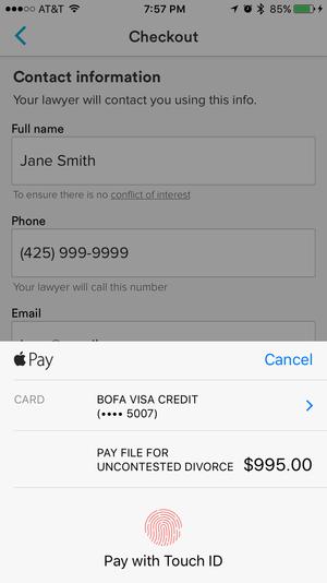 avvo apple pay checkout