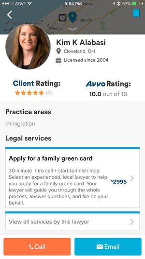 avvo lawyer profile