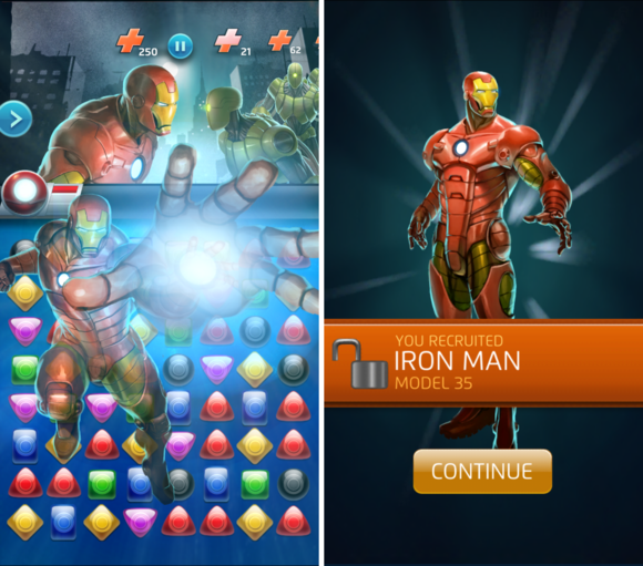 captain america civilwar puzzlequest