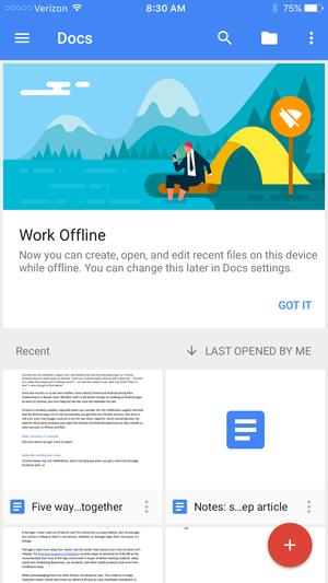 docs offline iphone
