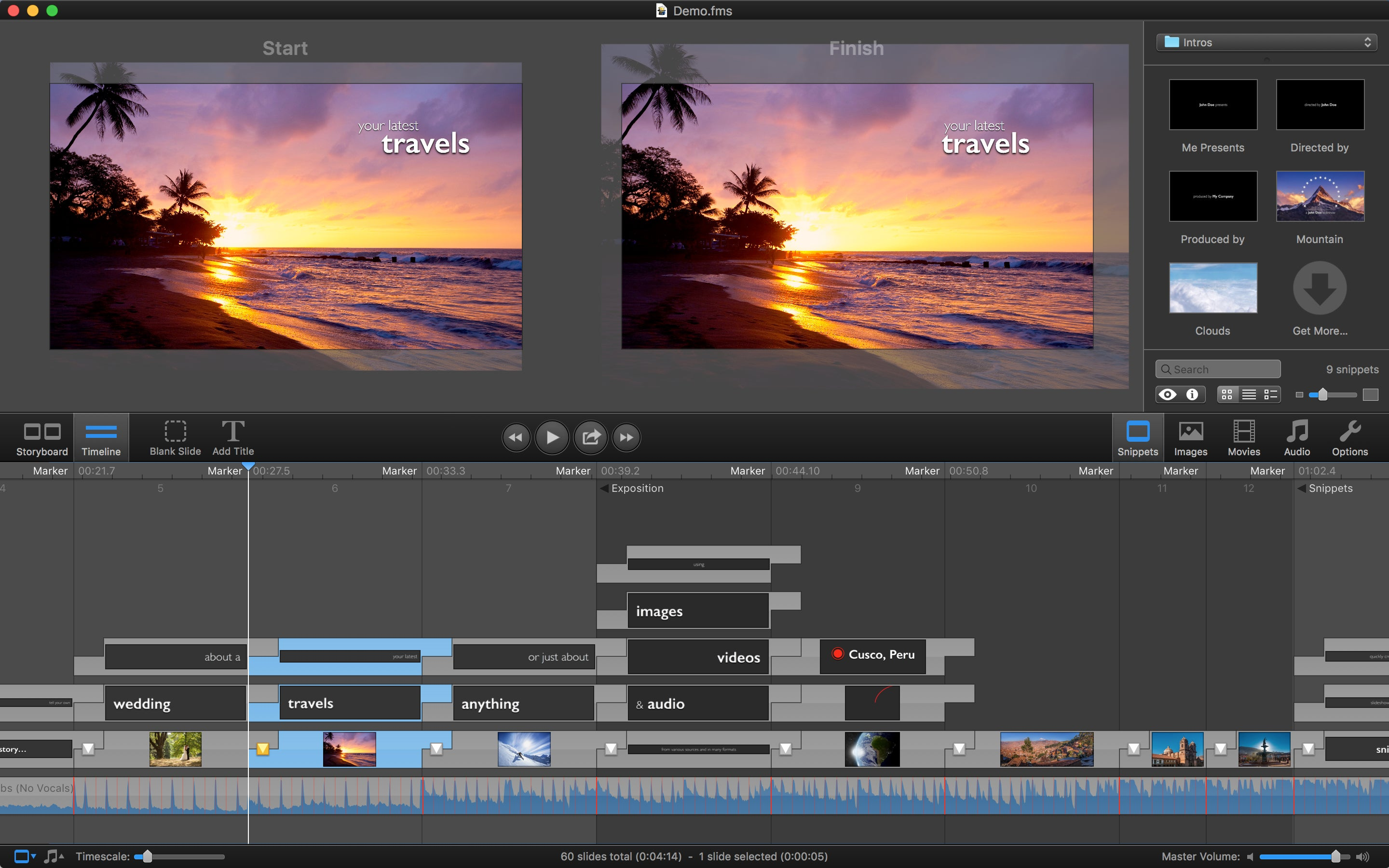 Create professional image and video presentations