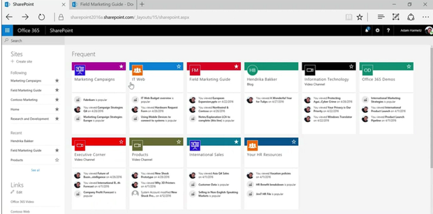 SharePoint Online opens with a new view