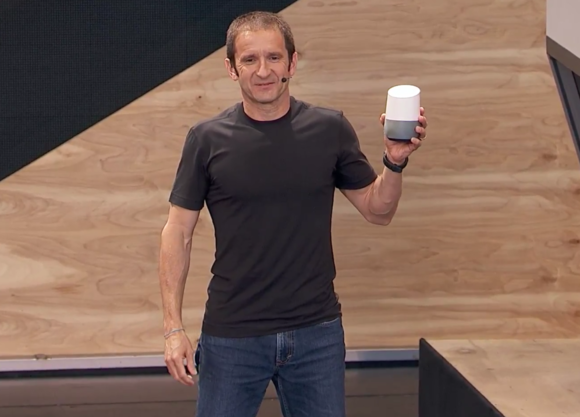 google home in hand